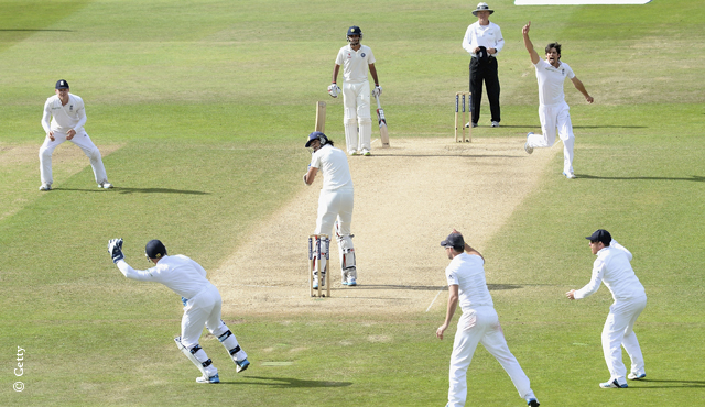Alastair Cook took his first Test wicket at Trent Bridge