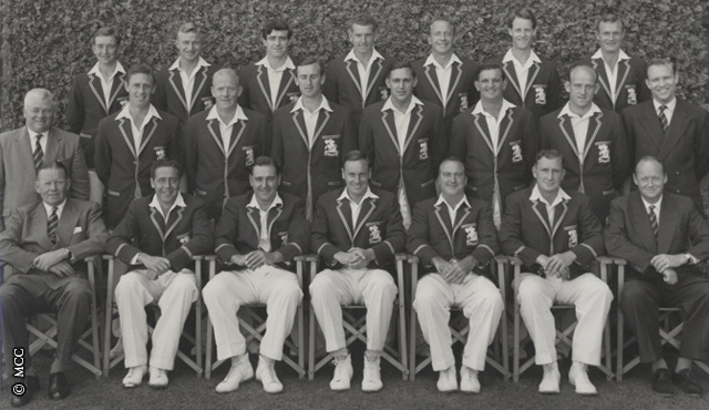 MCC's touring party to Australia in 1958/9