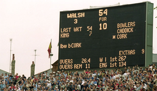 England famously bowled out West Indies for 54 in 2000