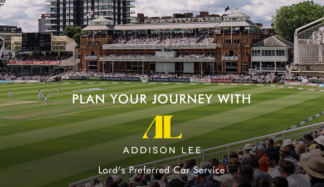 MCC choose Addison Lee for Lord's Digital Partnership