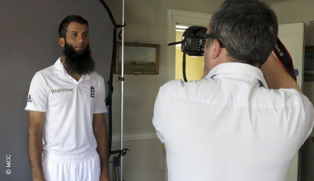 Moeen Ali during the photocall at Lord's