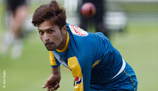 Mohammad Amir warms up at Lord's on Tuesday before the Test match