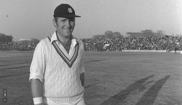 Dennis Amiss in India during the 1975 series