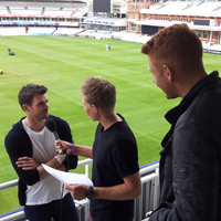James Anderson Joe Root and Jonny Bairstow