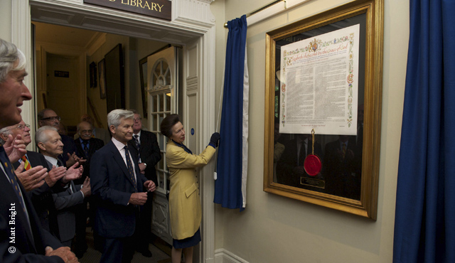 HRH The Princess Royal unveils MCC's Royal Charter