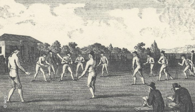 A cricket scene at Dorset Square, MCC's first ground