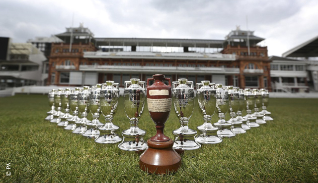 Children mark Ashes series 100 day countdown