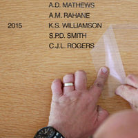 Honours Board update