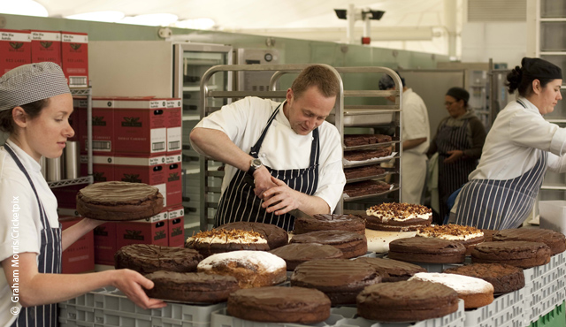 MCC Head Pastry Chef Thierry Besselievre baking in the Mound Stand at Lord's