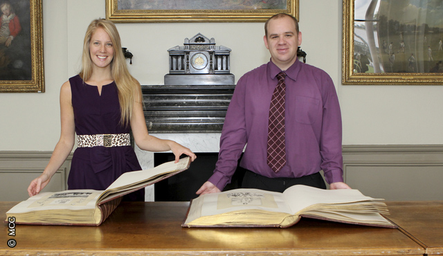 MCC Collections Officer Charlotte Goodhew and Documentation Assistant Rob Curphey