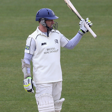 Sam Robson batting for Middlesex