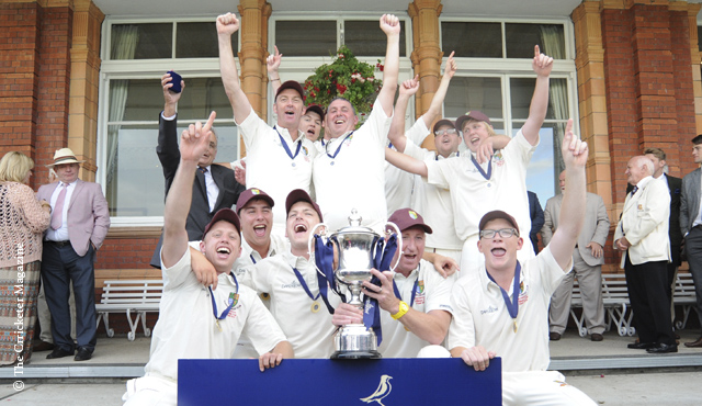 Cleator celebrate their victory at Lord's
