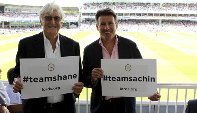 Pose with a #teamsachin or #teamshane sign and you could win a prize