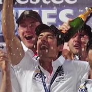 Alastair Cook wins the Ashes in 2013.
