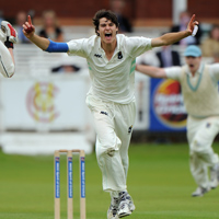 Ed Abel Smith takes a wicket for Eton, 2011