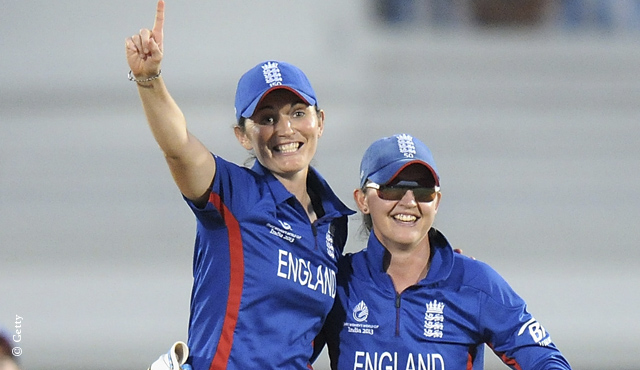 Captain Charlotte Edwards (left) and Sarah Taylor