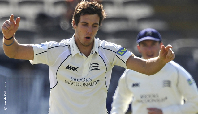 Steven Finn took 6/80 on day three at Hove