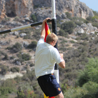 The MCC flag (sort of) flying in Cyprus