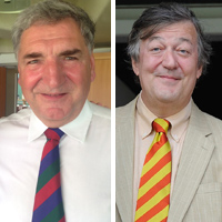 Jim Carter and Stephen Fry