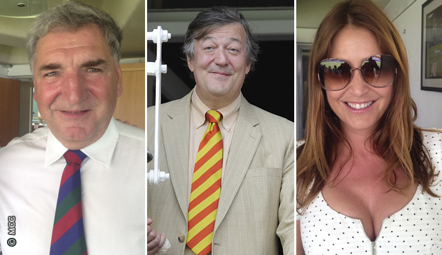 Jim Carter, Stephen Fry and Lisa Snowdon were all at the Test