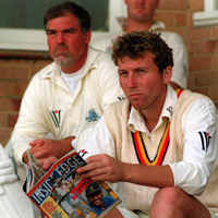 Mike Atherton and Mike Gatting