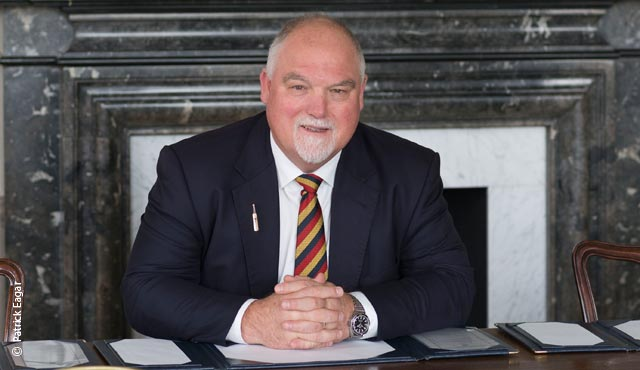 MCC President Mike Gatting