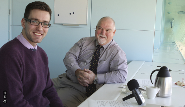 MCC President Mike Gatting co-hosting the Lord's Podcast