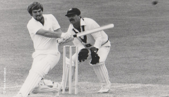 Gatting batting for Middlesex against Australia at Lord's