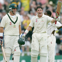 Matthew Hayden and Mike Hussey