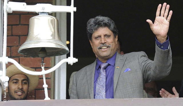 Kapil Dev rings the five minute bell on day four