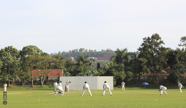 Cricket at the Kyambogo Oval in Kampala