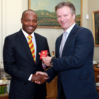 Brian Lara and Steve Waugh
