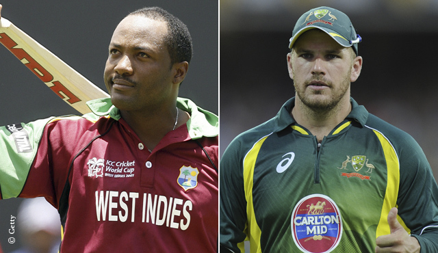 Brian Lara and Aaron Finch