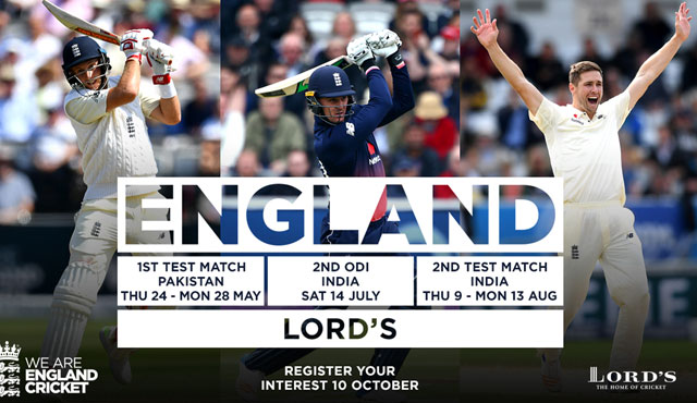 Lord's fixtures for 2018 released