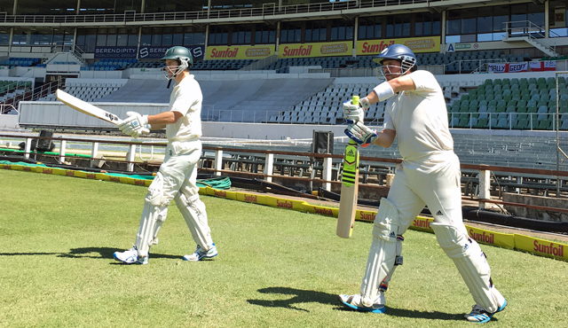 MCC opening batsmen stroll out at Kingsmead