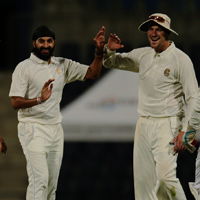 Monty Panesar with Ollie Rayner