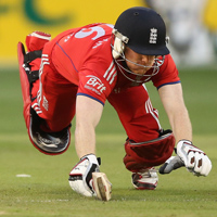 Eoin Morgan diving