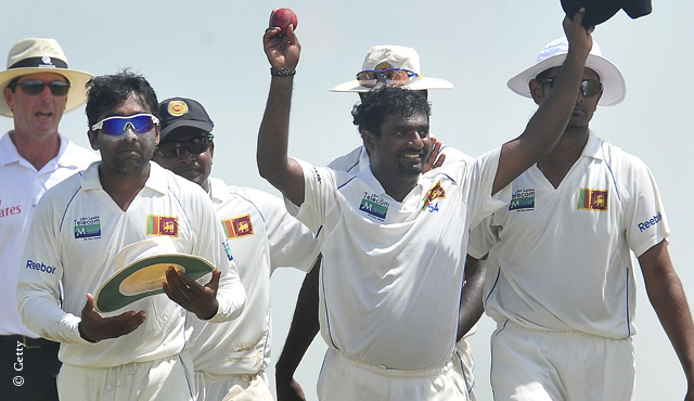 Murali walks off at Galle having taken his 800th Test wicket with his final delivery