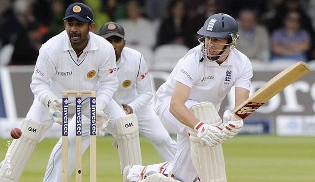 Gary Ballance on the sweep during day four
