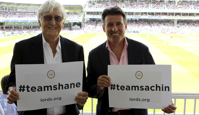 Michael Parkinson and Seb Coe pledge their support for MCC v RoW on July 5