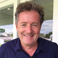 Piers Morgan at Lord's on day three