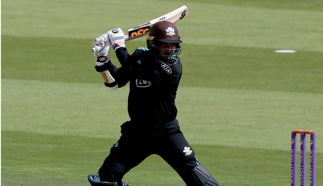 Kumar Sangakkara's 100th career century guided Surrey to the semi-final of the RLODC