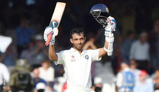 Rahane made his second Test ton