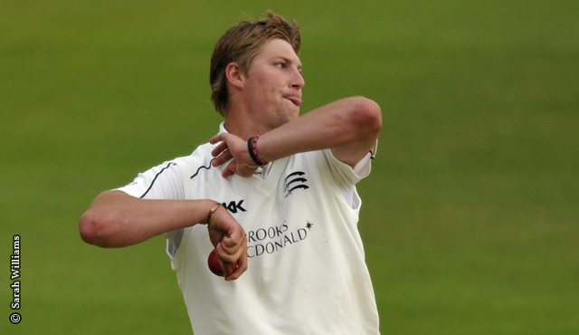 Ollie Rayner was involved with all 10 of Surrey's first innings dismissals