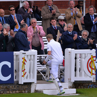 Joe Root after being dismissed
