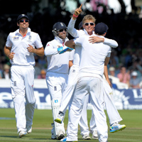 Joe Root celebrating a wicket