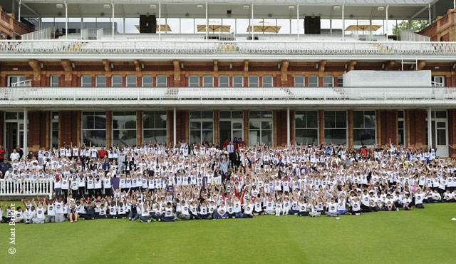 600 children attended the day at Lord's