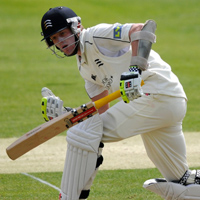 Sam Robson plays one into the leg side
