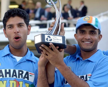 Marcus Trescothick and Nasser Hussain both scored centuries as England set an imposing total, but it was the performance of Yuvraj Singh and Mohammad Kaif that stole the headlines. The pair came together with the score at 146/5 but combined for 121 runs as India chased down 325, and won the NatWest Series.