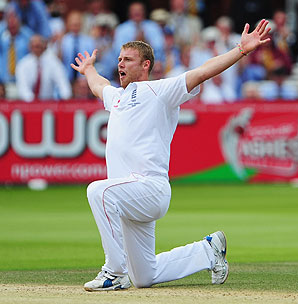 Andrew Flintoff's arms outstretched celebration will live long in the memory of England fans after he took five-wickets in the Australian second innings, as England's 115 run victory was the hosts first Ashes win at Lord's in 75 years.
